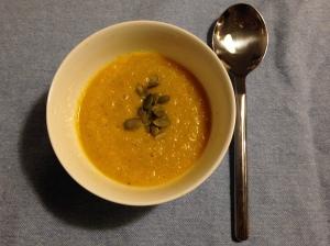 raw pumpkin soup