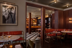 NEW YORK, NY - DECEMBER 30, 2013: Sant Ambroeus restaurant opens at 265 Lafayette Street in Soho. CREDIT: Photography by Bruce Buck.